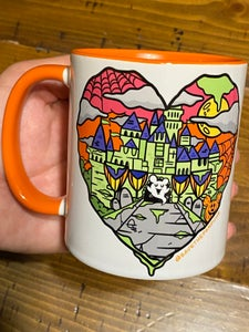 Image of Halloween Castle Orange Mug