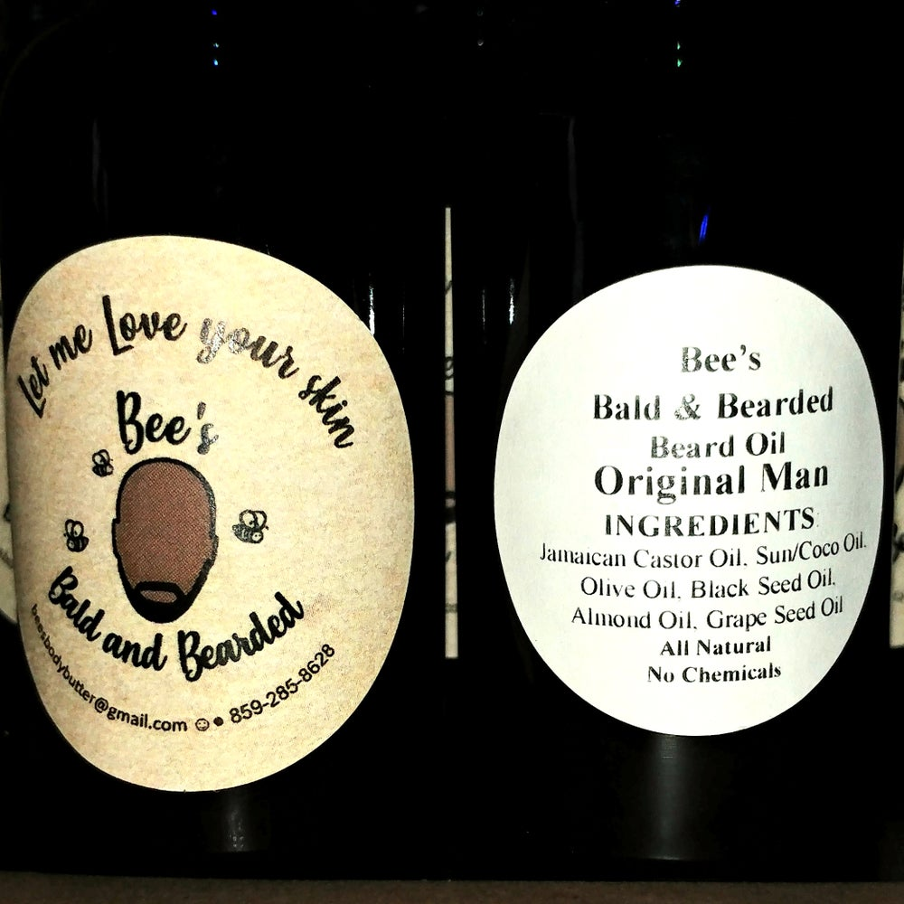 "Image of Ms. Bee's ""Bald and Bearded"" Beard Oil"