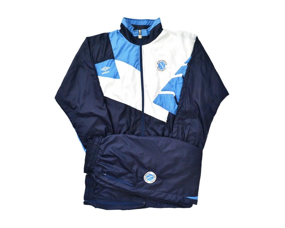 Image of 1991-1992 Umbro Napoli Full Tracksuit M