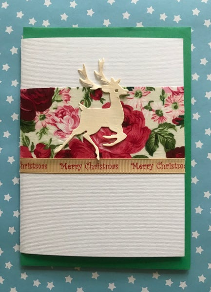 Image of Running Roses Reindeer