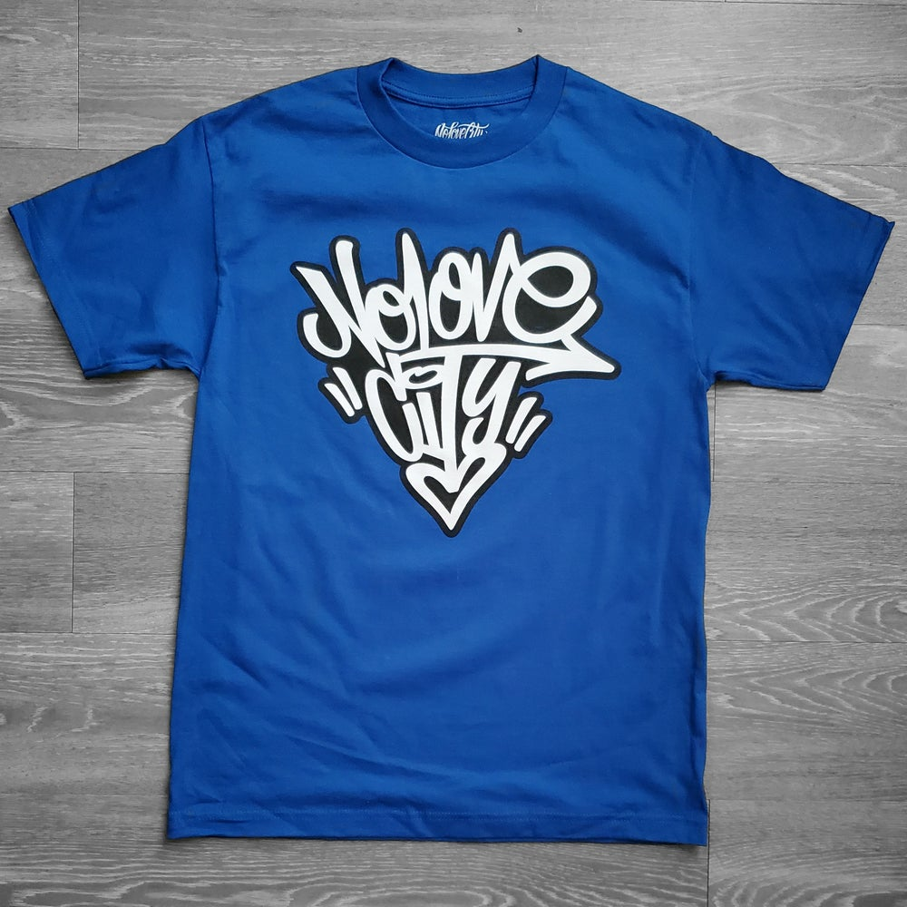 Image of Graffiti Logo (Blue/ Black/White)