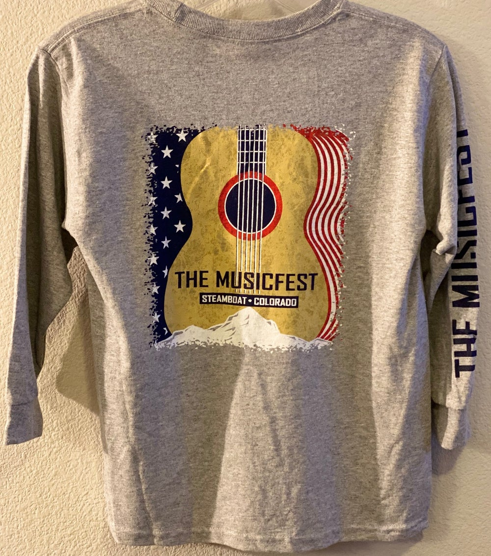 Image of Youth L/S guitar flag