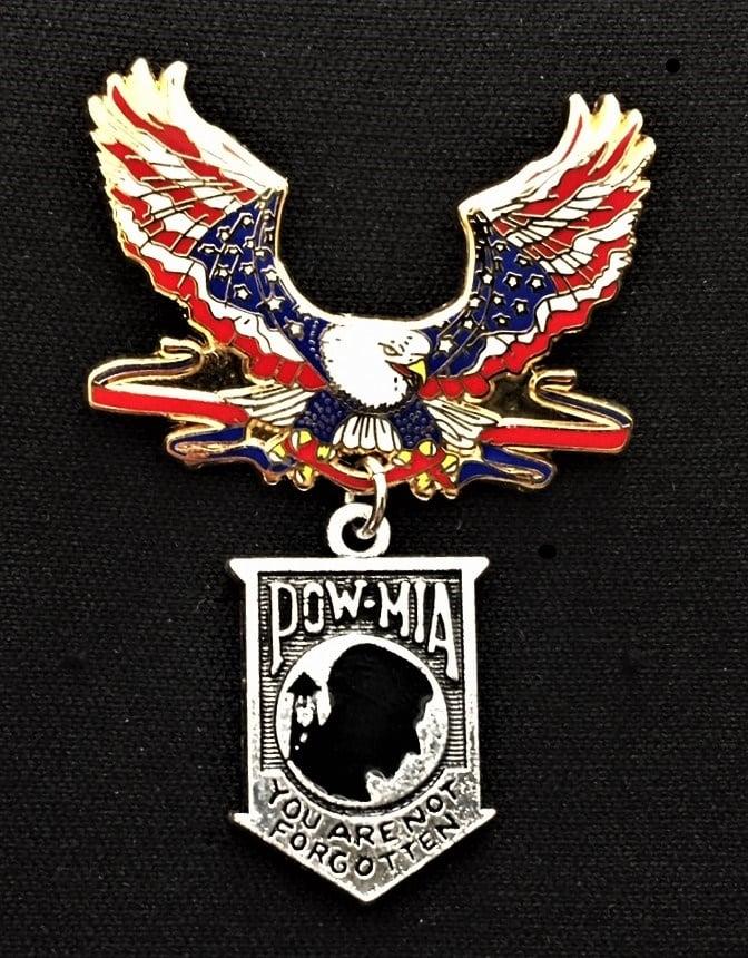 Image of POW MIA Patriotic Eagle All Veteran Pin