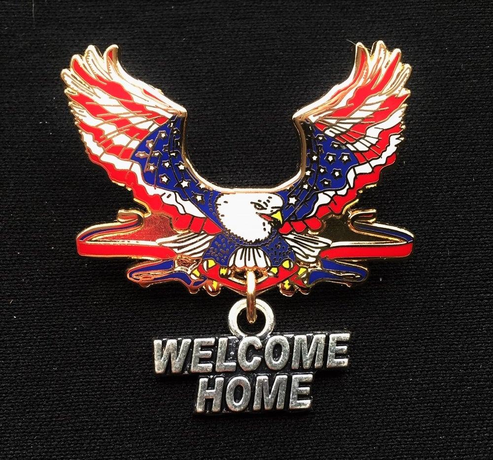 Image of Welcome Home Patriotic Eagle All Veteran Pin