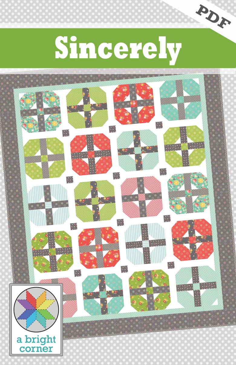 Image of Sincerely Quilt Pattern - PDF version