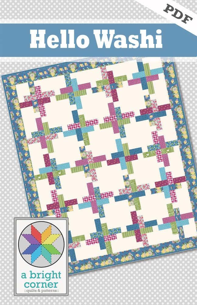 Image of Hello Washi Quilt Pattern - PDF Version