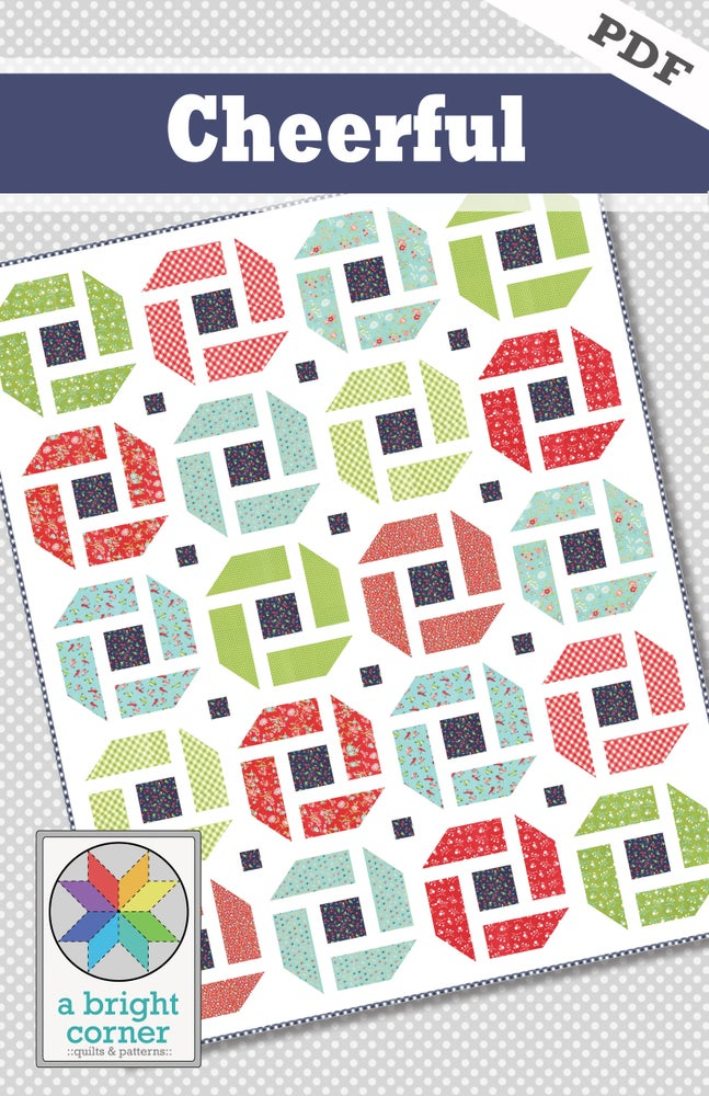 Image of Cheerful Quilt Pattern - PDF Version