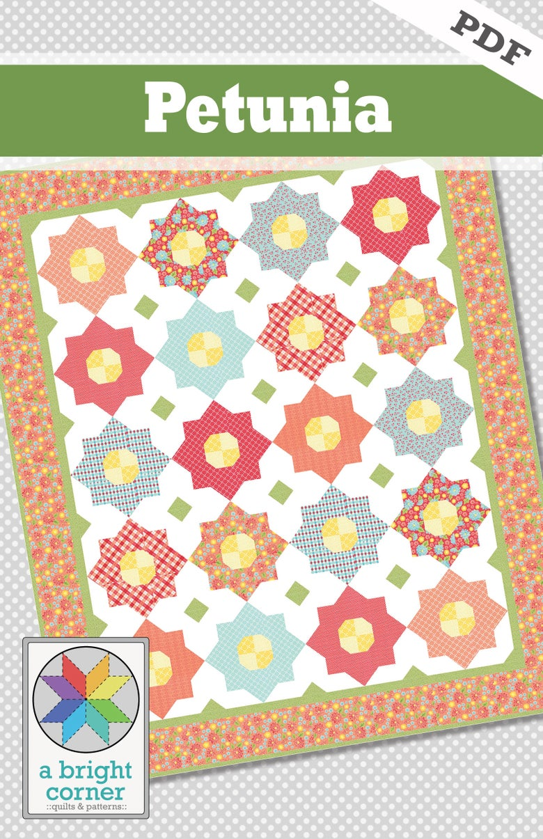 Image of Petunia Quilt Pattern - PDF Version