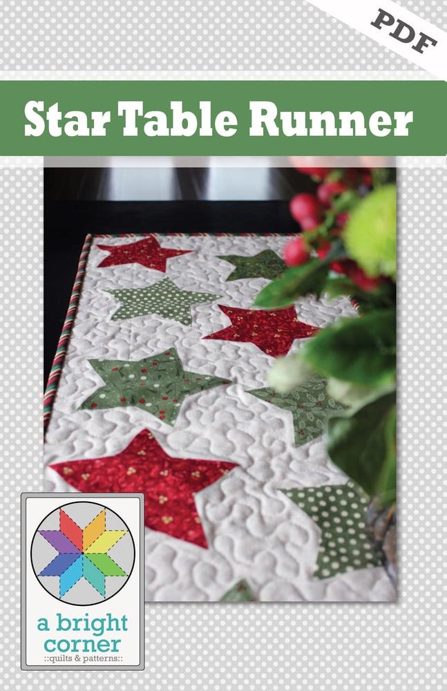 Image of Star Table Runner - PDF Version