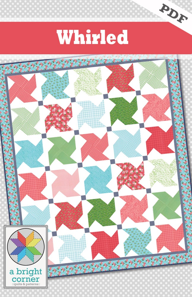 Image of Whirled quilt pattern - PDF version