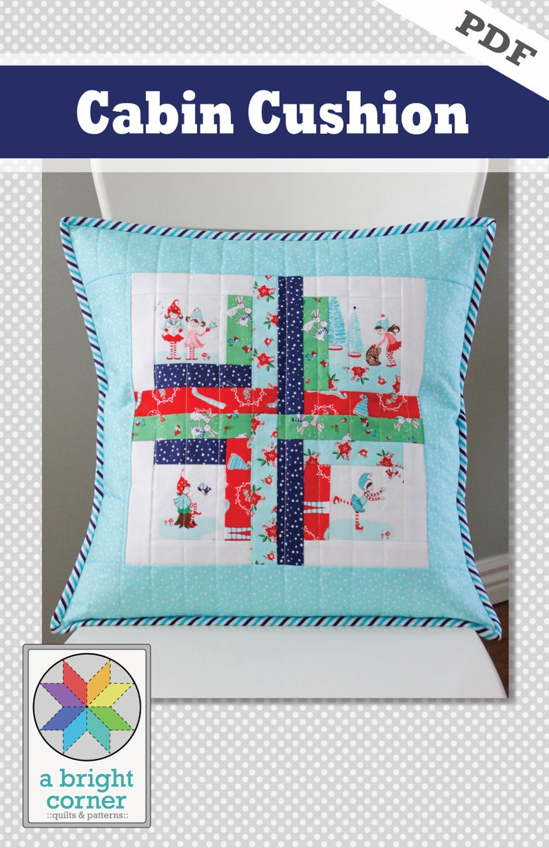 Image of Cabin Cushion PDF pattern