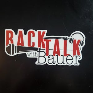 Image of Back Talk With Bauer Sticker
