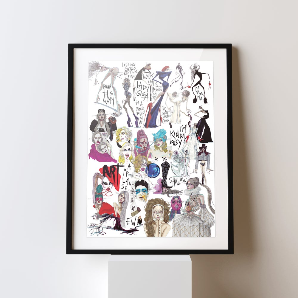 Image of TEN YEARS OF GAGA – Print
