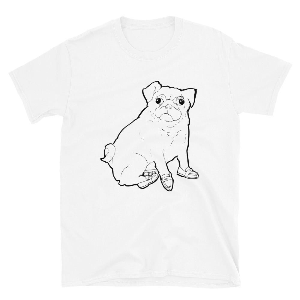 Image of PUG in Penny loafers - Short-Sleeve Unisex T-Shirt