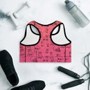 Image 2 of DOGS IN SHOES All-Over Print Padded Sports Bra