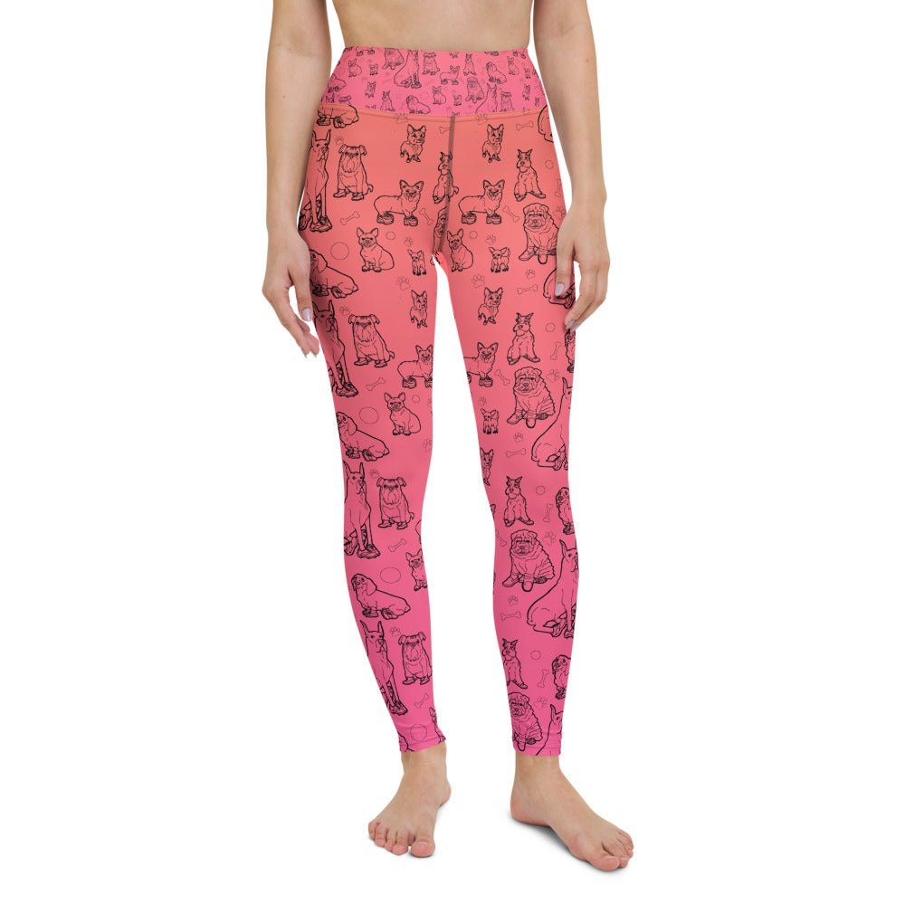 Image of DOGS in Shoes All-Over Print Yoga Leggings