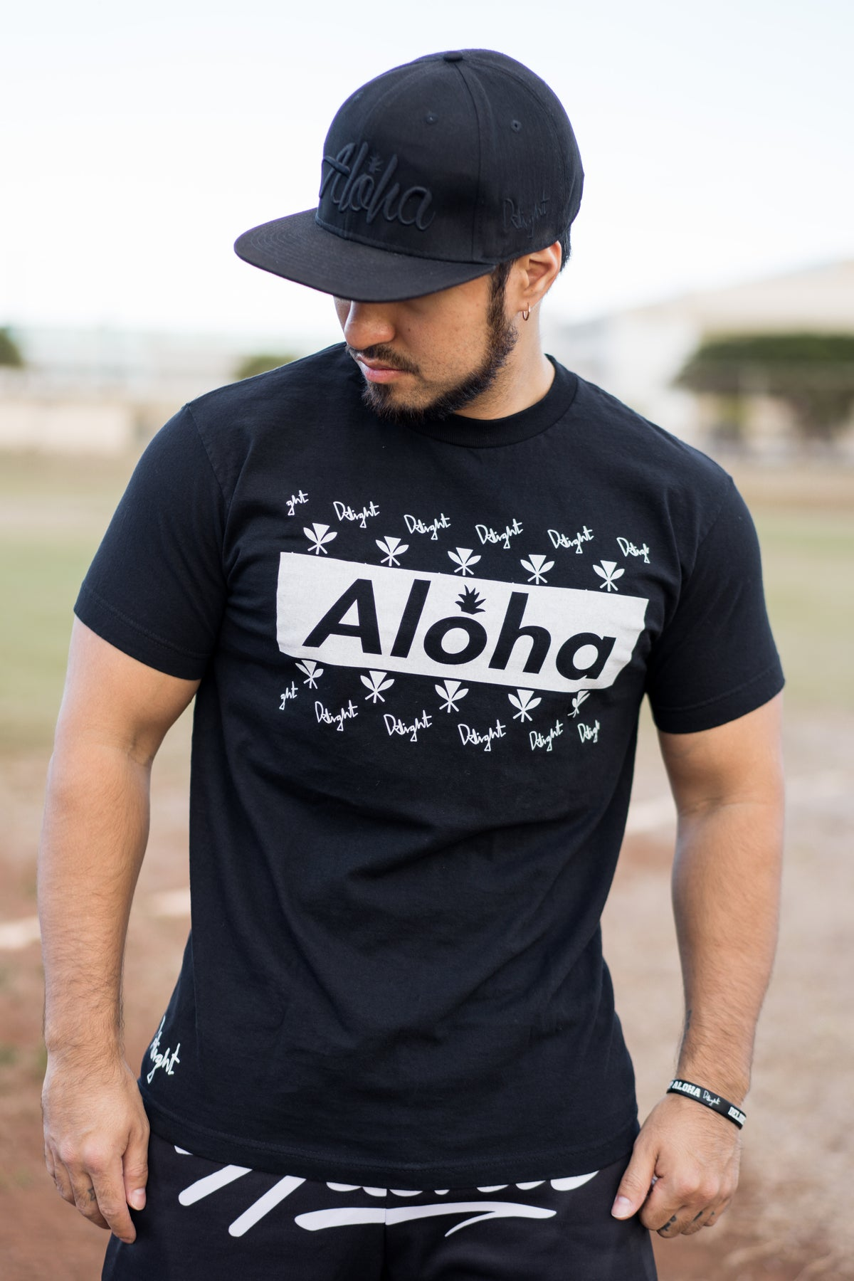 Aloha Slapped Black T-shirt