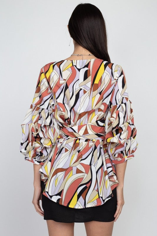 Image of Such A Flirt Printed Fashion Top