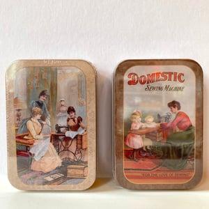 Image of Vintage style tin sewing kit