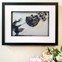 Dancing With Dandelions - A Fantasy Wire Papercut Picture