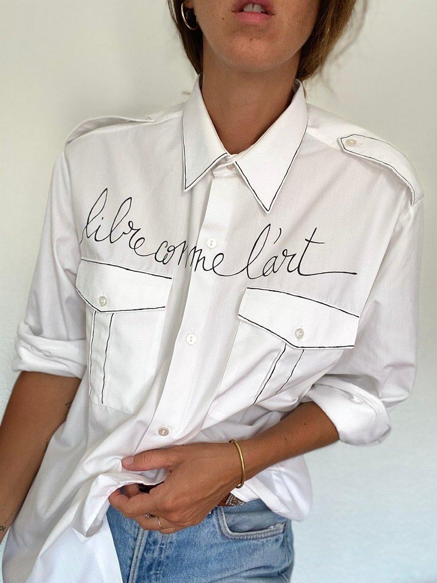 Image of Chemise «libre comme l'art»