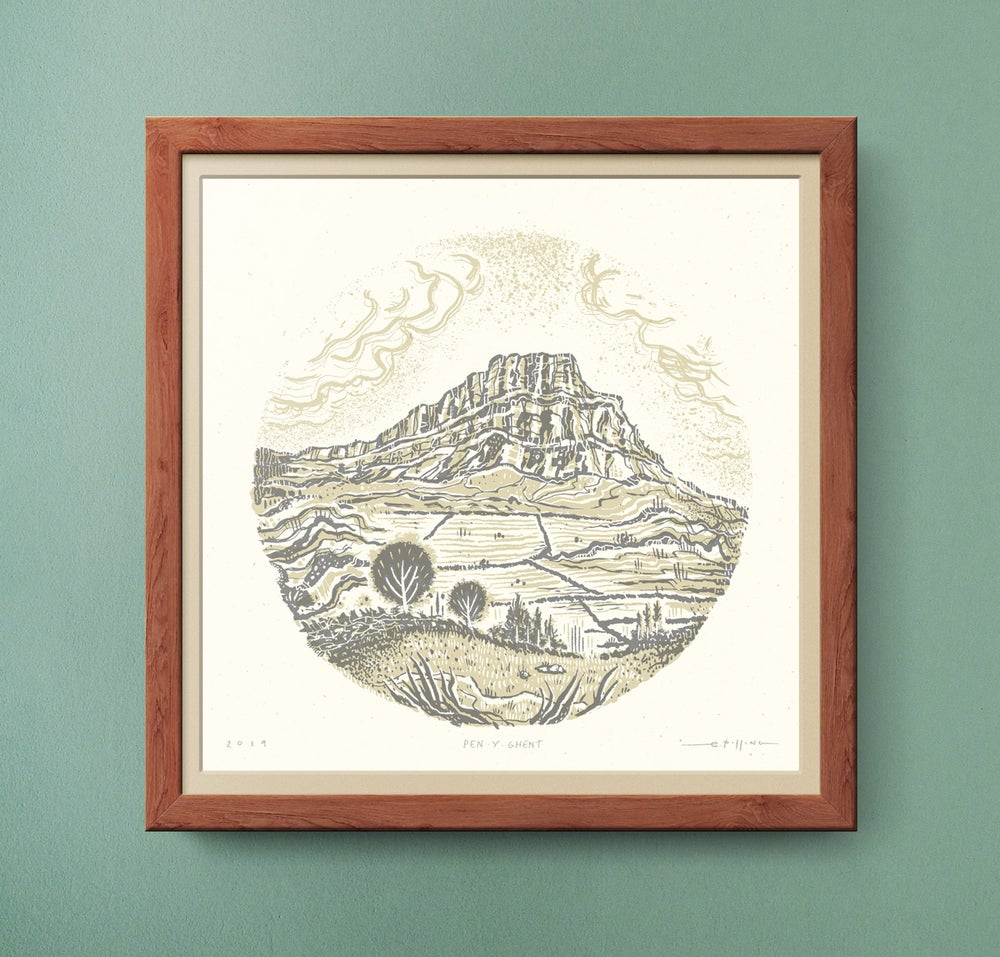 Image of Pen-Y-Ghent - Yorkshire Three Peaks - Silkscreen Landscape Print
