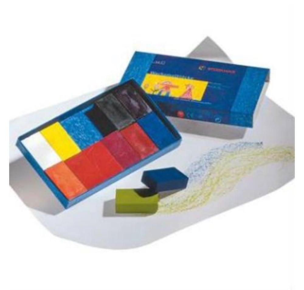 Image of Stockmar Wax Crayons 12 Blocks in Cardboard Box