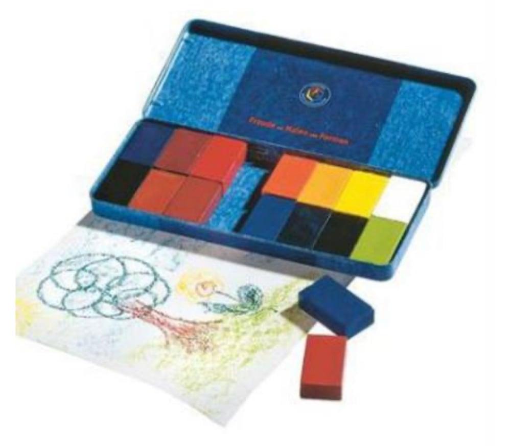 Image of Stockmar  Wax Crayons 16 Blocks in Tin