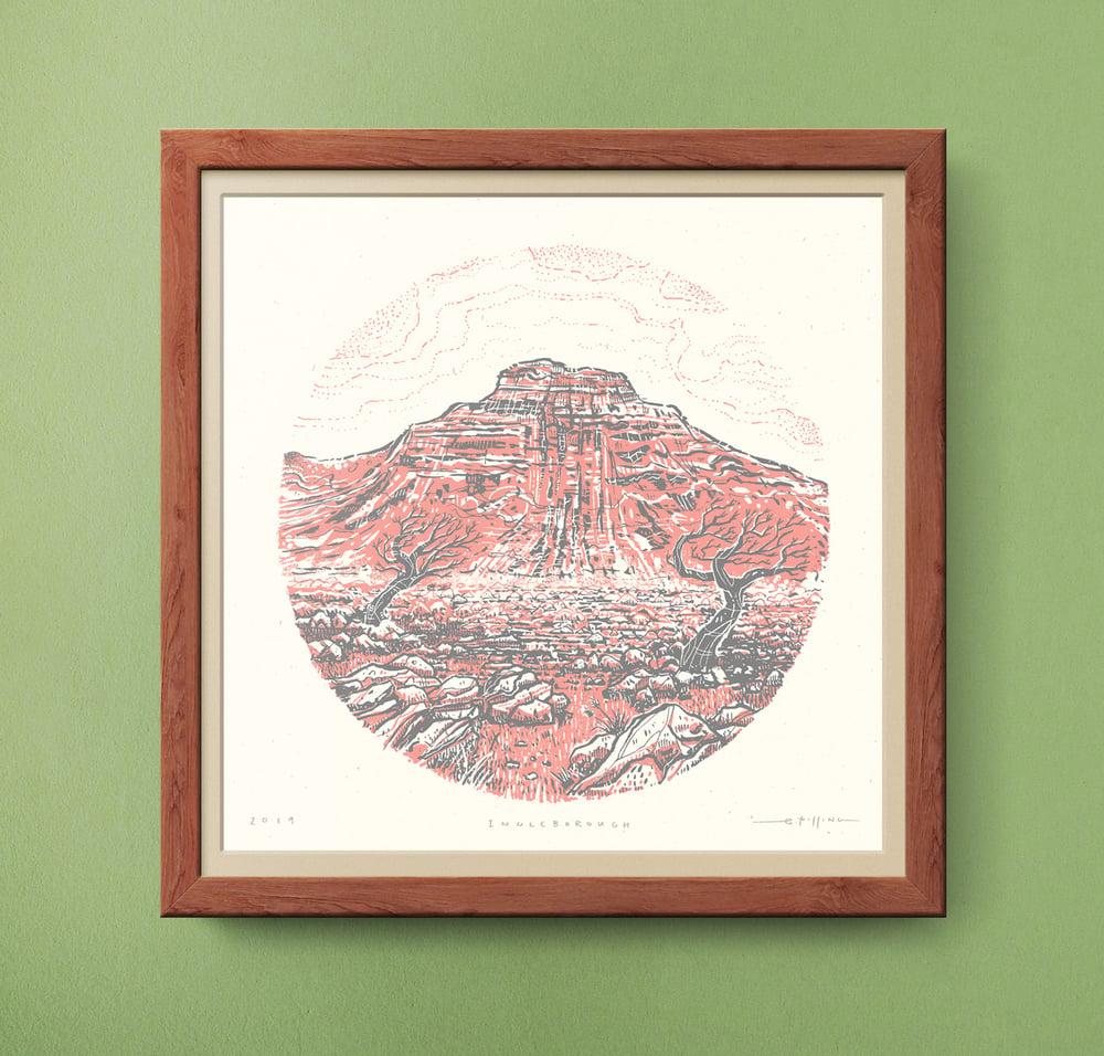 Image of Ingleborough - Yorkshire Three Peaks - Silkscreen Landscape Print