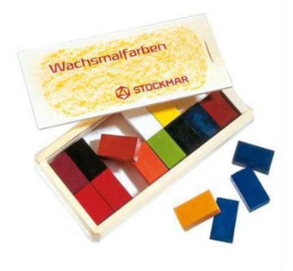 Image of Stockmar Wax Crayons 16 Blocks in Wooden Box
