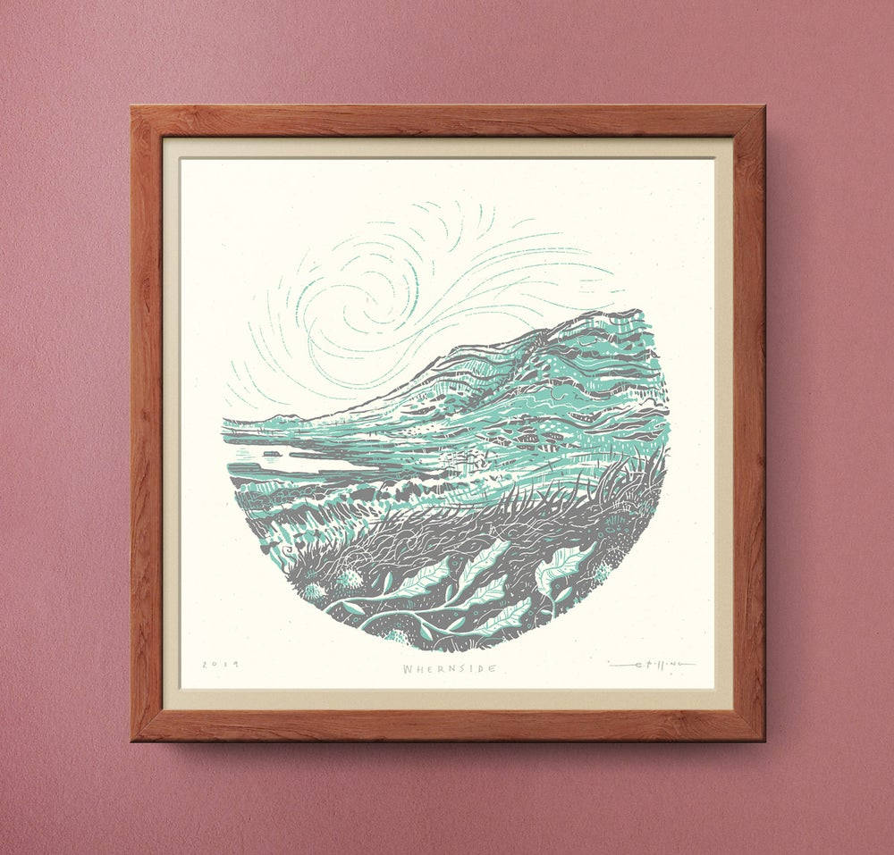 Image of Whernside - Yorkshire Three Peaks - Silkscreen Landscape Print