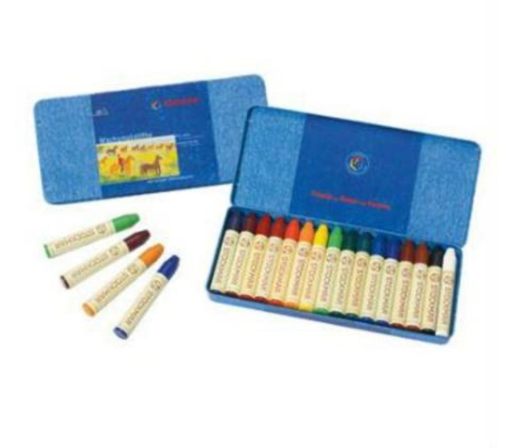 Image of Stockmar Wax Crayons x Pure Beeswax 16 Sticks in Tin
