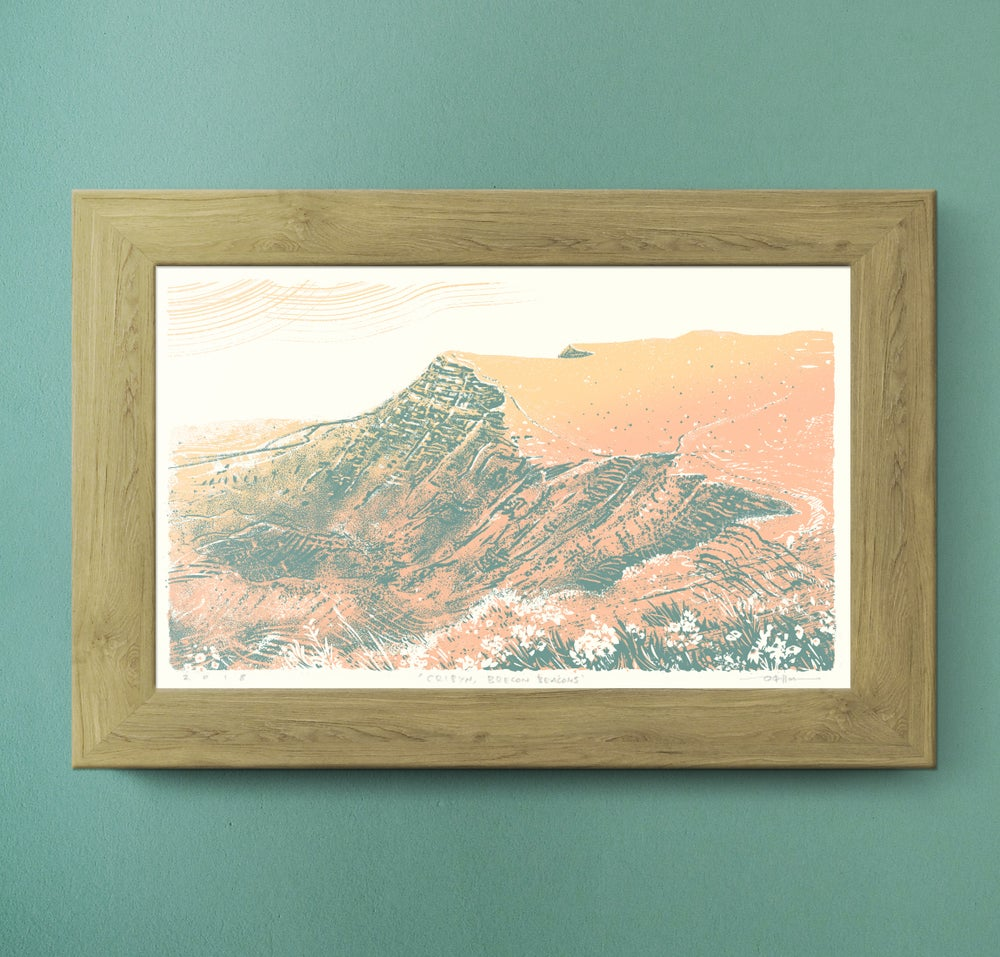 Image of Cribyn, Brecon Beacons, Wales - Silkscreen Landscape Print