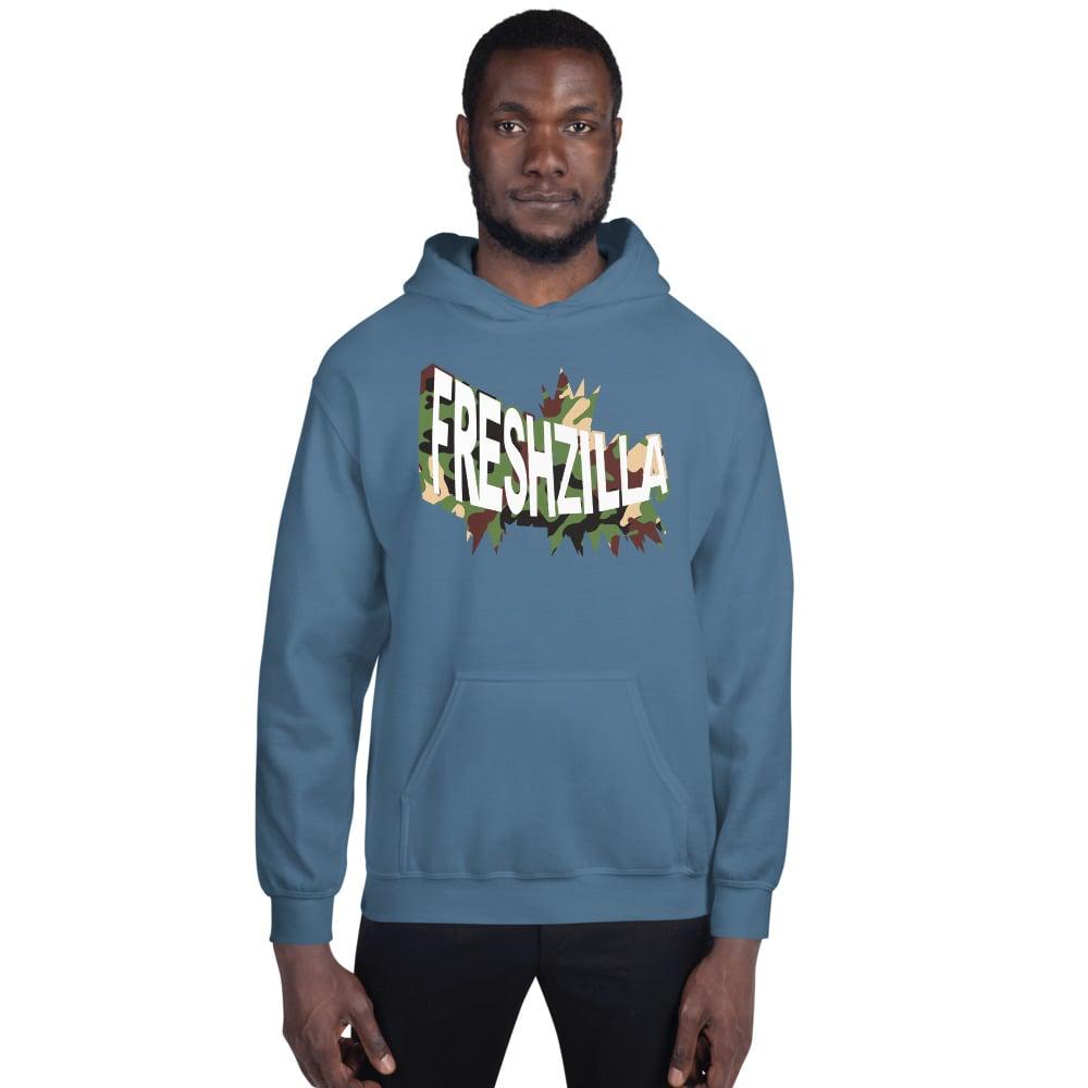 FRESHZILLA Green Camo Logo Hoodie