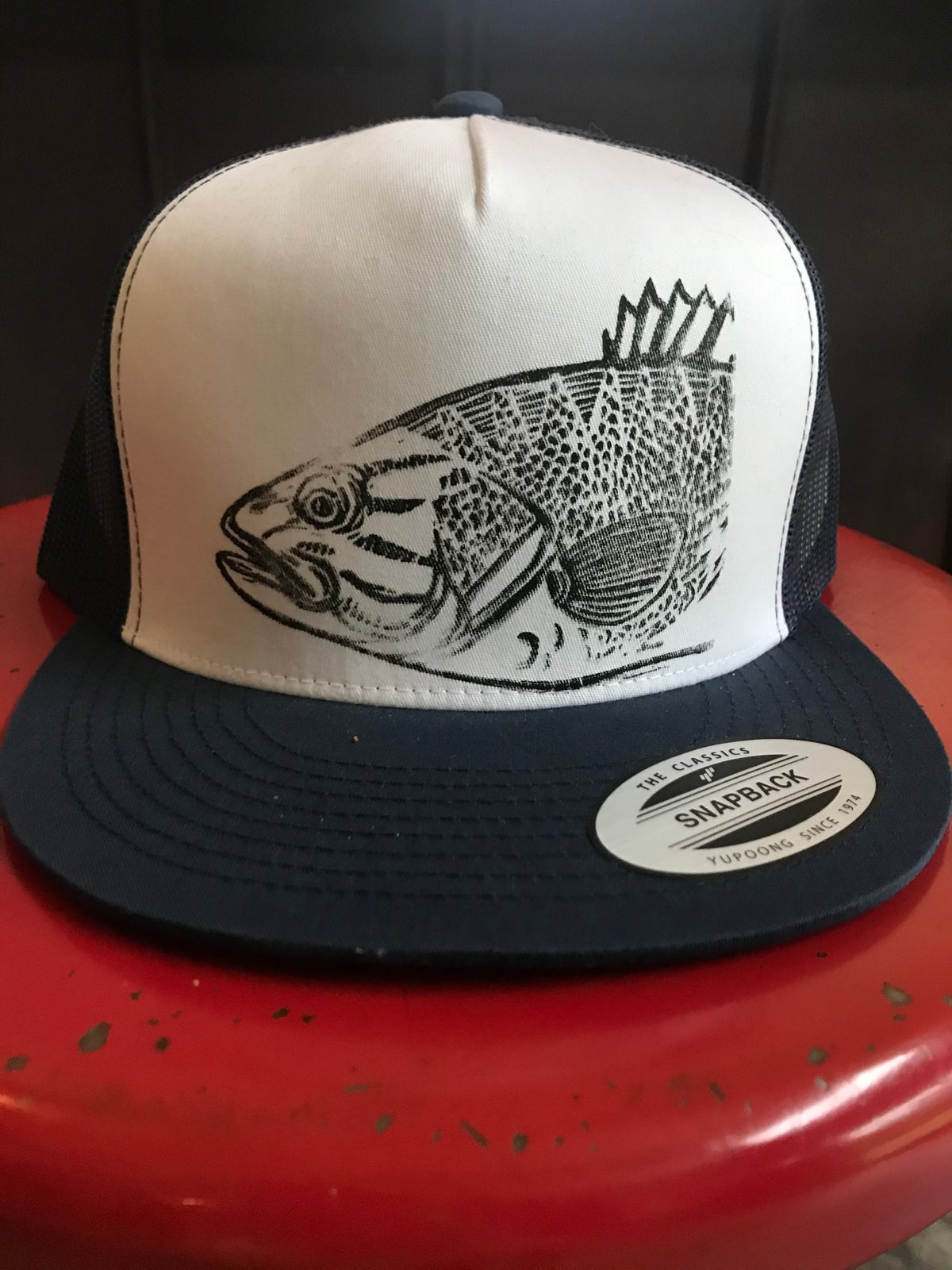 Navy Bass Trucker