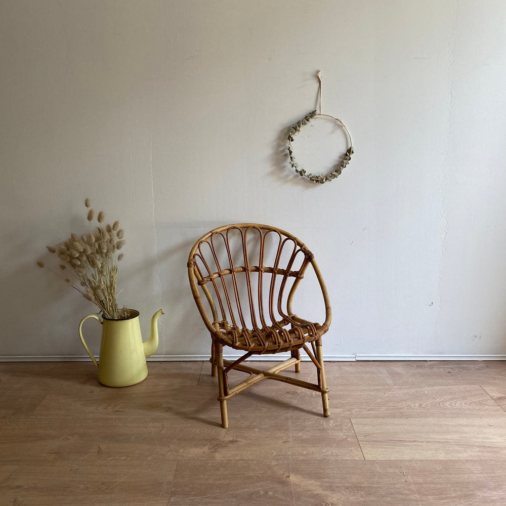 Image of Fauteuil rotin enfant #911