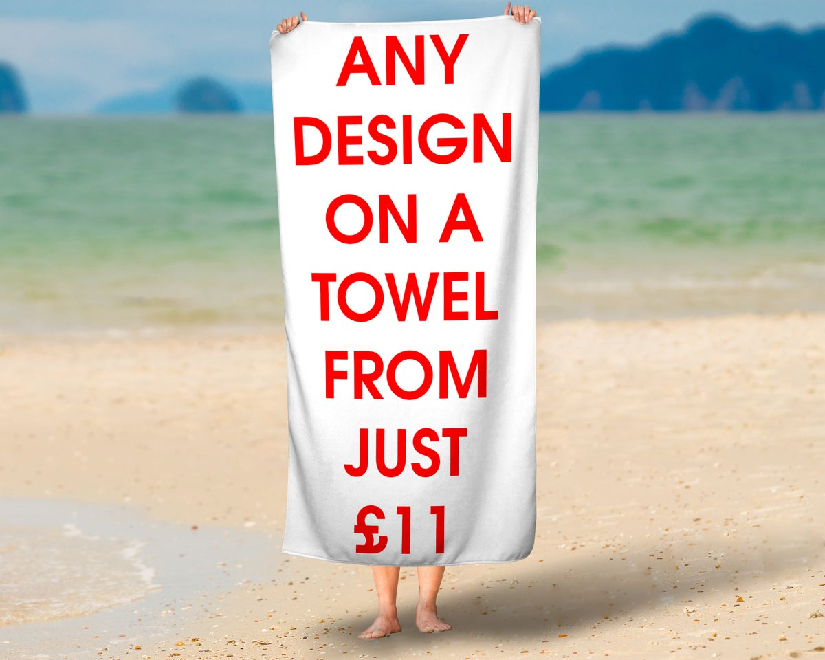 Custom Printed Towel From just £11.