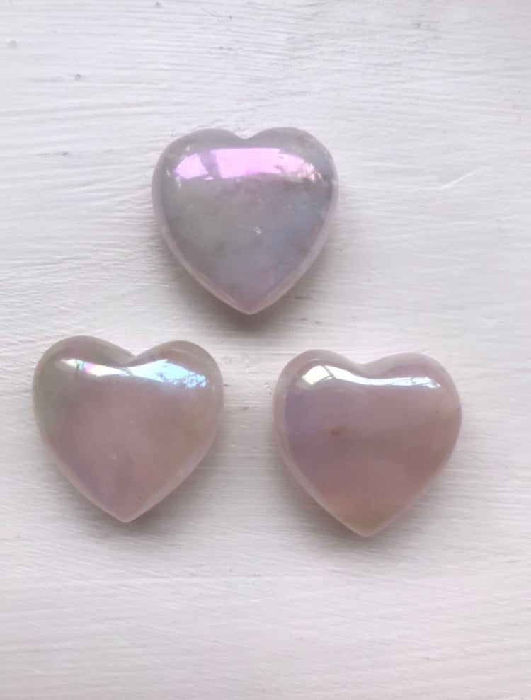Image of Rose Aura Quartz Heart