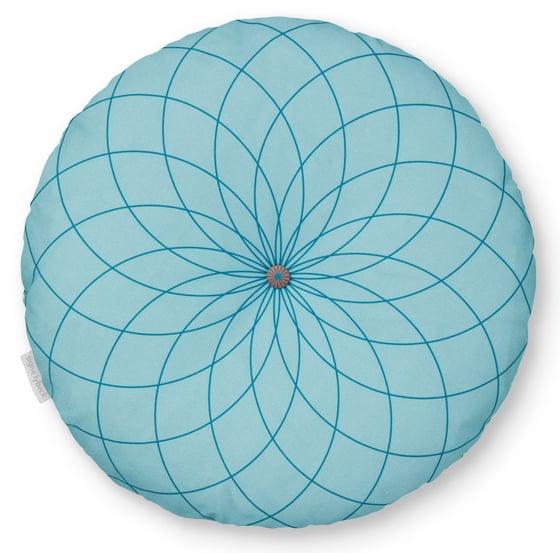 Image of 'DAHLIA' ROUND CUSHIOn, BLUE