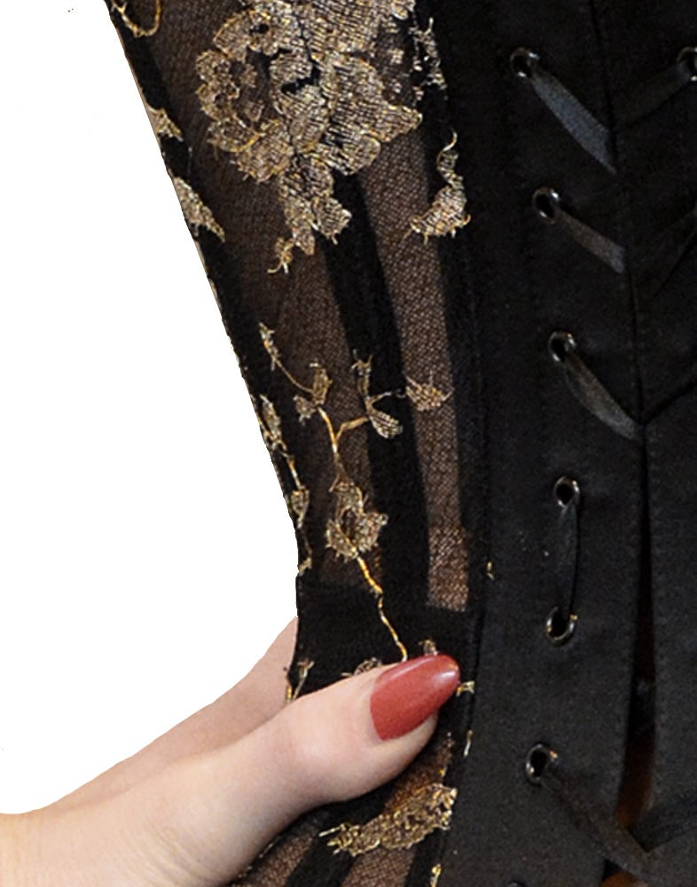 Image of ALTHEIA GOLD LACE CORSET