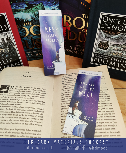 Image of Her Dark Materials Podcast Iorek's Farewell bookmark
