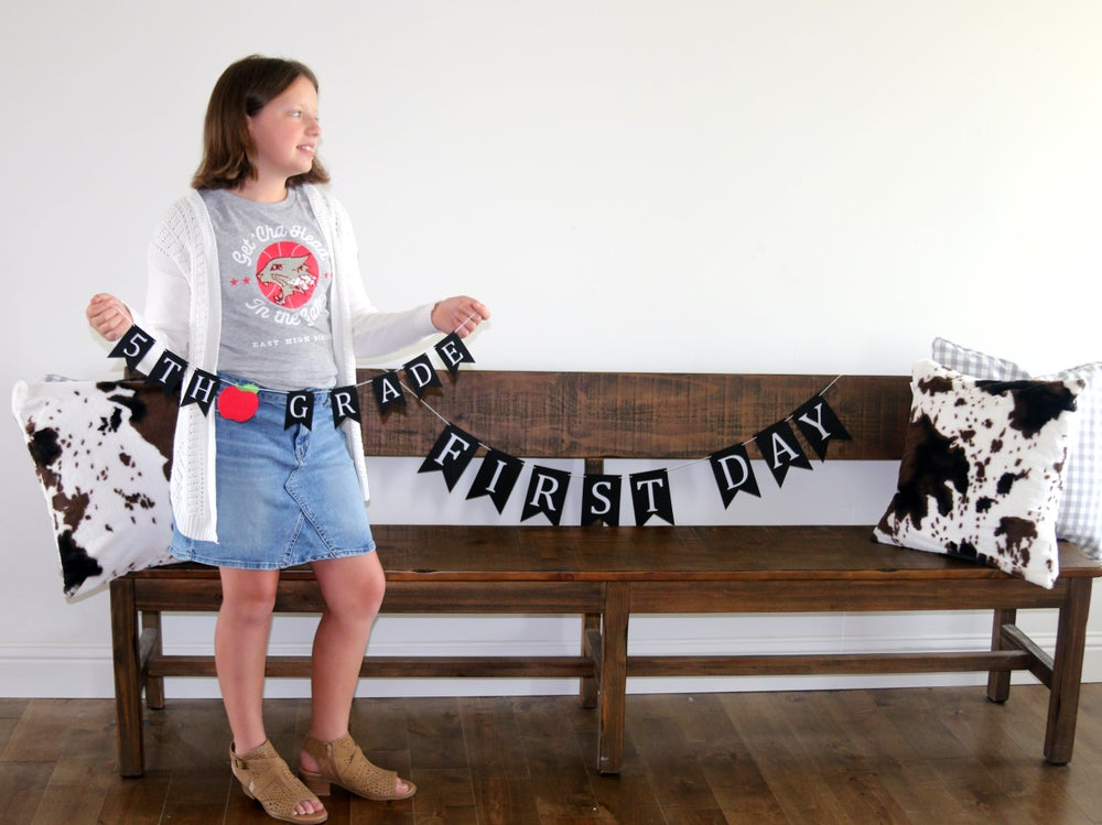 Image of First Day of School & Grade Banner Set | 2 Styles