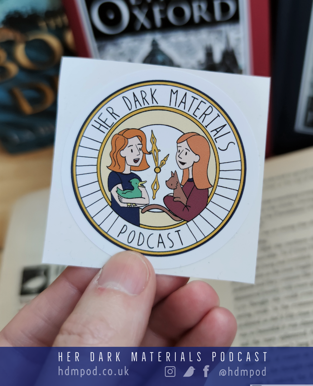 Image of Her Dark Materials Podcast logo sticker
