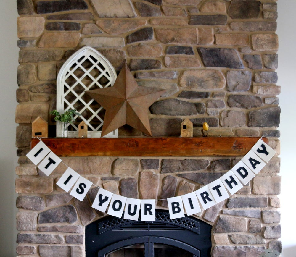 Image of It Is Your Birthday Felt Reusable Banner, The Office Inspired