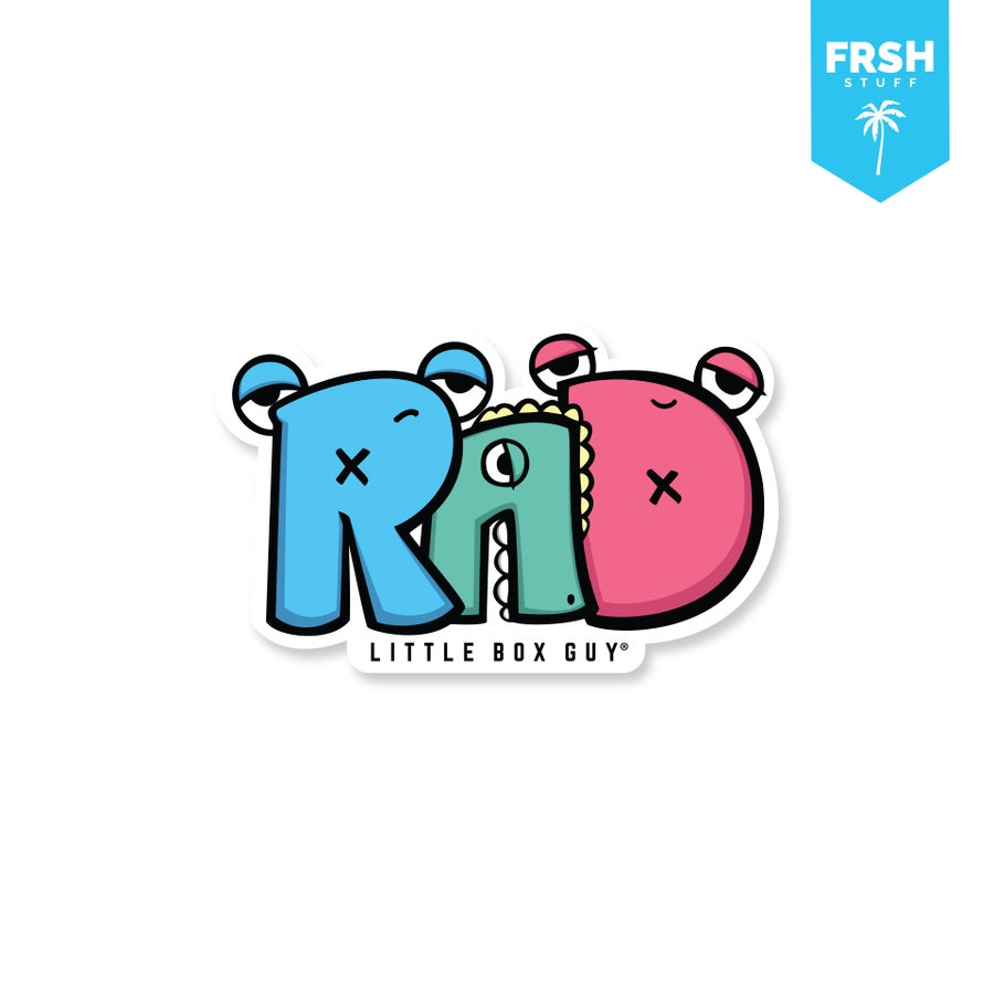 Image of Rad (Die-Cut Sticker)