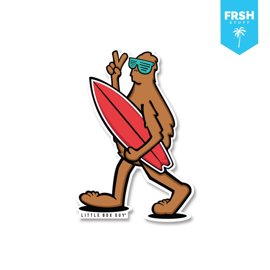 Image of Bigfoot 'On the Board' (Die-cut Sticker)