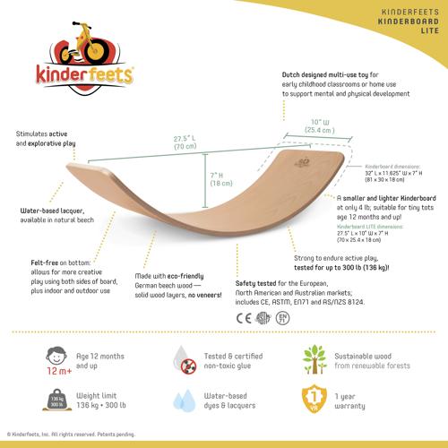 Image of Kinderboard LITE Natural. NEW!