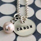 Image of Sterling Silver Teeny Tag Necklace with Charm