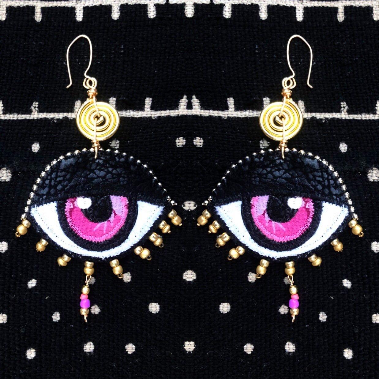 Image of Eye Am Divine Drop Earrings