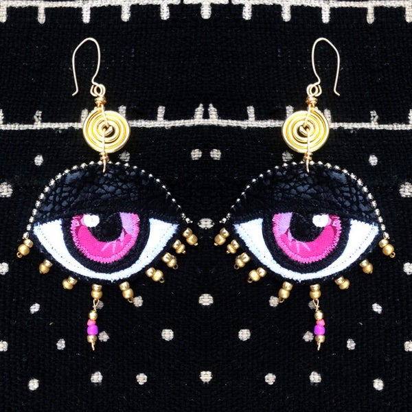 Image of Eye Am Divine Drop Earrings